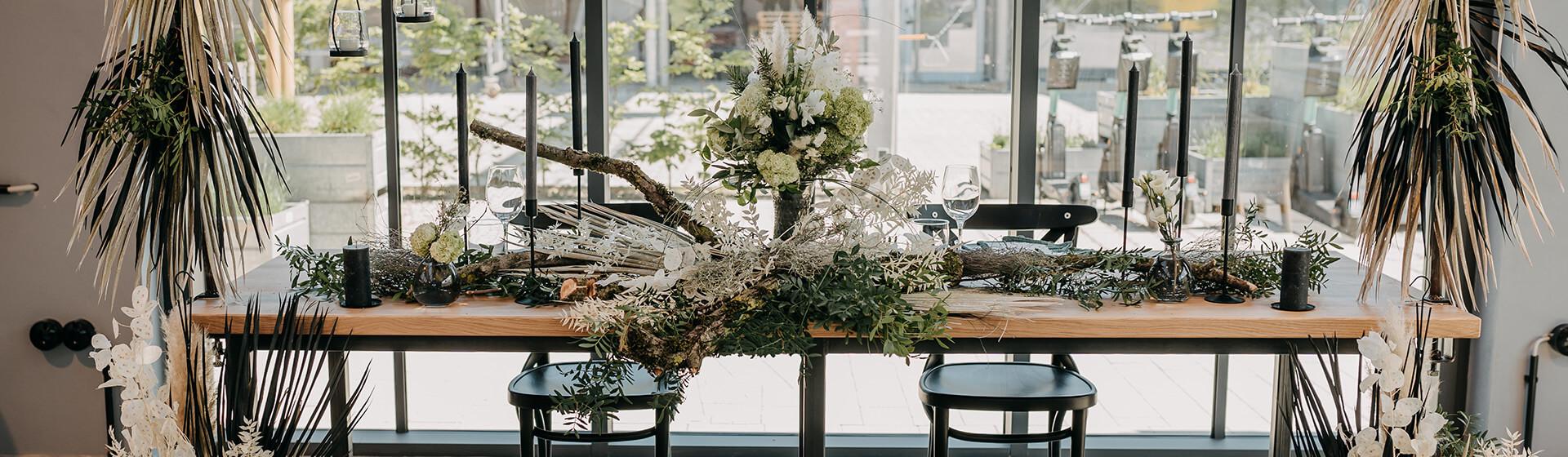 dekorierter Brauttisch